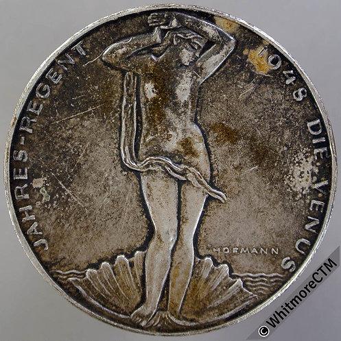 1948 Germany Calendar (leap year) Medal 40mm By Hofmann. Silvered bronze