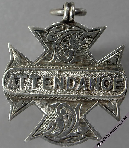 School Attendance Medal 30x28mm Cruciform silver with suspender D2365