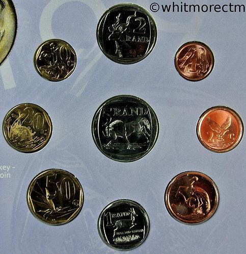1998 South Africa mint sealed Coin set in descriptive folder 1