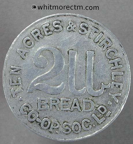 Co-Operative Society Token Birmingham Ten Acres & Stirchley 2lb bread 25mm