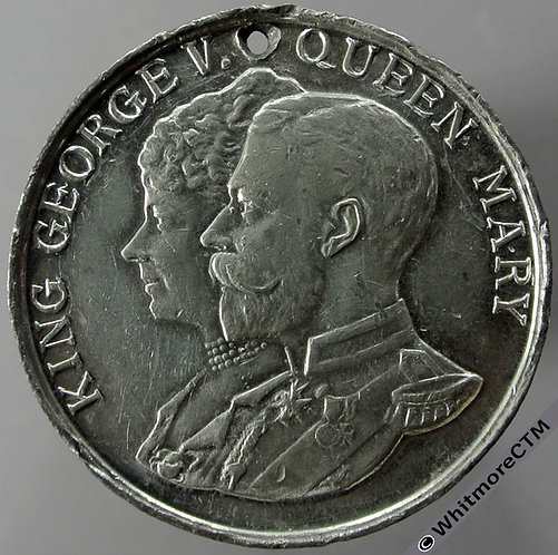 London 1935 Jubilee George V Medal 38mm WE5764A White Metal pierced