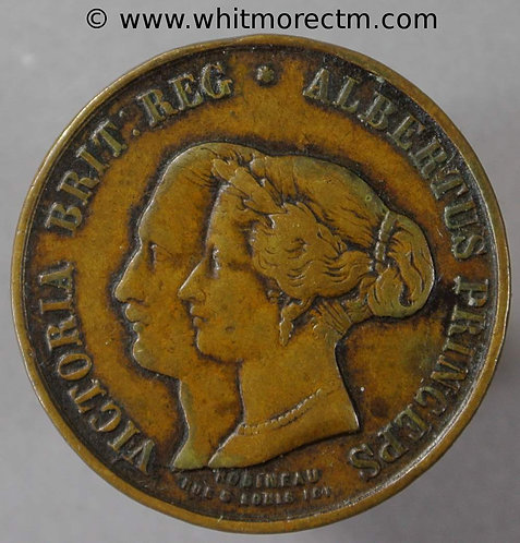 1855 Visit of Victoria and Albert to France Medal 23mm