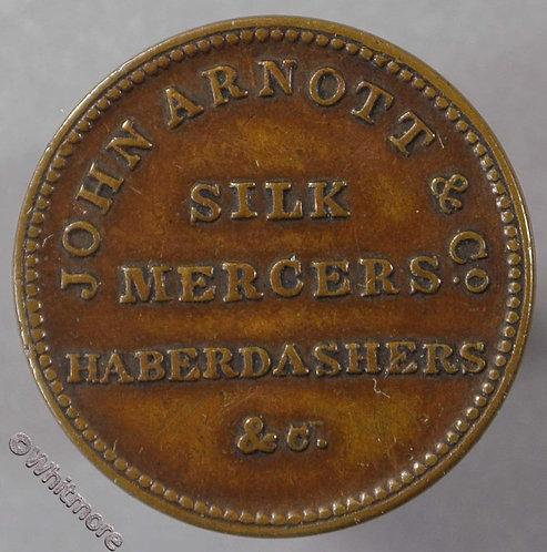 Unofficial Farthing Belfast 5380 John Arnott & Co. Silk mercers etc