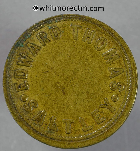 Saltley Birmingham Value Stated token 24mm 3d Edward Thomas