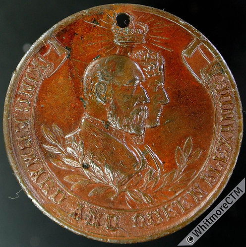 1902 Arbroath Coronation Medal 32mm WE4169 Bronze Pierced