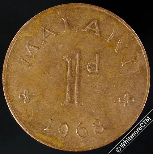 1968 Malawi Penny 1d KM# 6