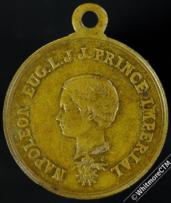 France Napoleon III Medal 23mm Gilt Brass - Prince Imperial
