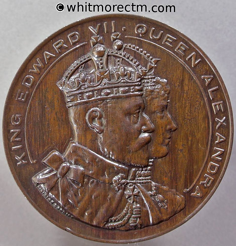 Cardiff 1907 Opening of Queen Alexandra Dock Medal 51mm By Spiridion - Bronze