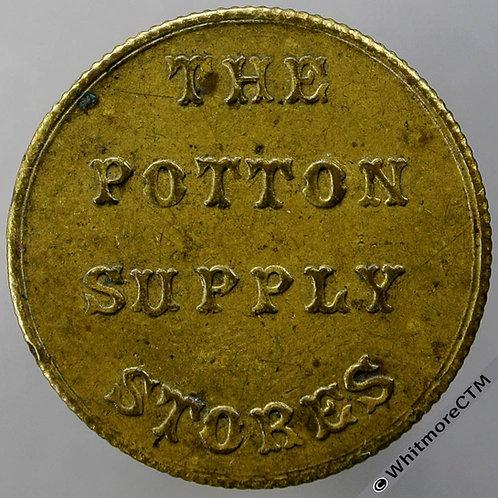 Potton Bedfordshire Bonus Token 27mm Bond Smith Bros, Brass