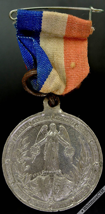 Bridgewater 1919 End of the Great War Medal 32mm W.M. ribbon & pin