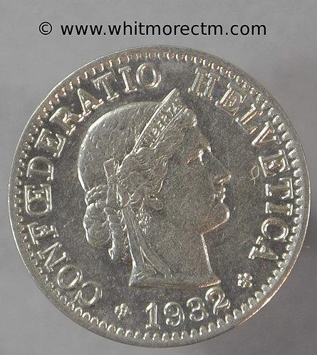 1932 Switzerland 5 Centimes coin Y23a  Nickel