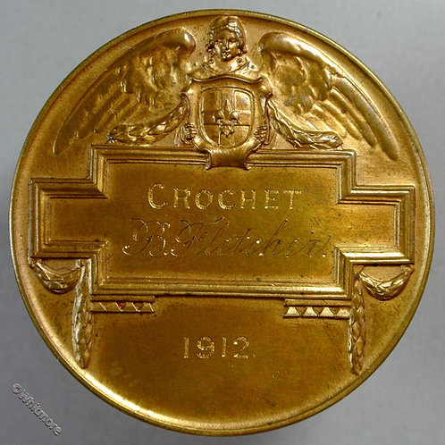 Lincoln 1912 Art & Industrial Exhibition Medal 51mm Bronze