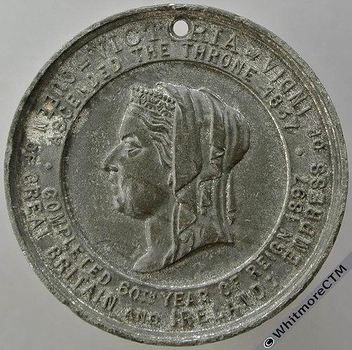 Northwich 1897 Victoria Diamond Jubilee Medal 38mm WE3307D W.M. Pierced