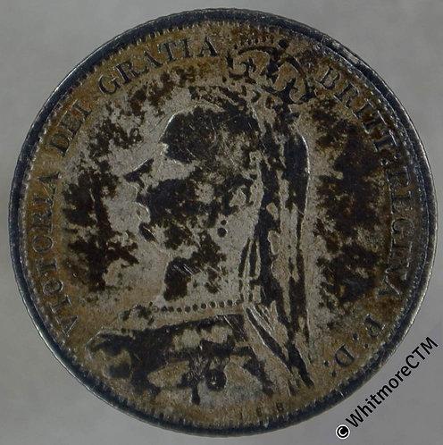 1892 Victoria Jubilee Head Sixpence