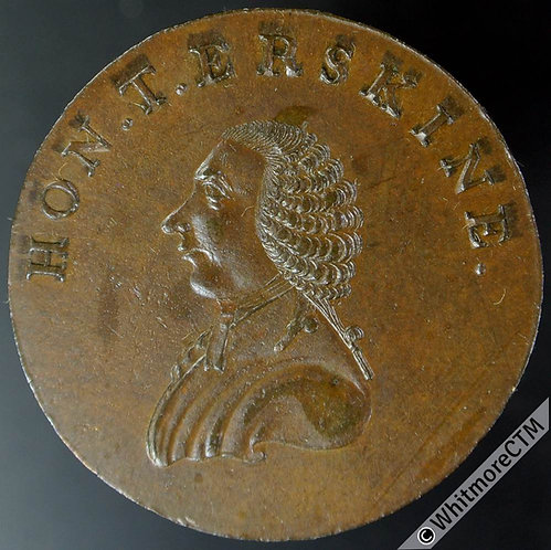 18th Century Halfpenny Middlesex 1010 Hon. T. Erskine. A friend to freedom