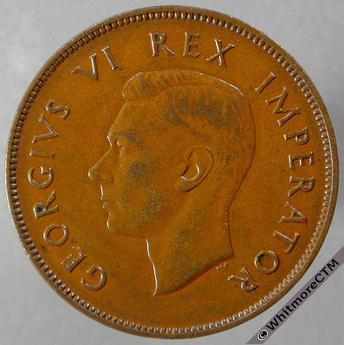 1939 South Africa Penny - George VI obv