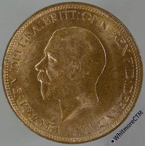 1932 Bronze Halfpenny George V