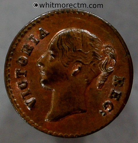 Moore's Model quarter farthing 231 11mm 1848 Nose to top of O - Copper