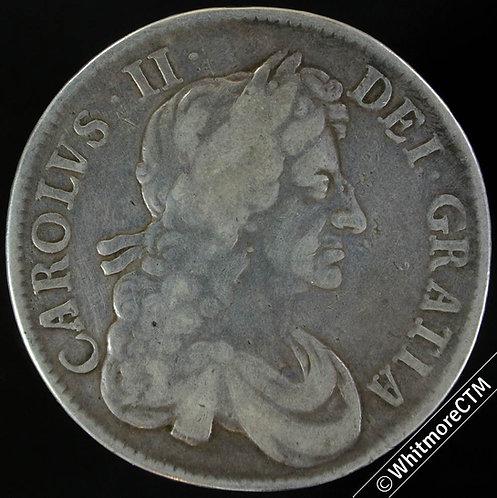 1680 Charles II  Crown - TRICESIMO SECVNDO