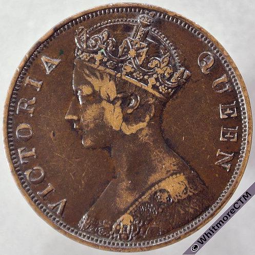 1877 Hong Kong 1 Cent obv Y2