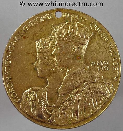 Sutton Coldfield 1937 Coronation Medal obv 38mm George VI BHM4342
