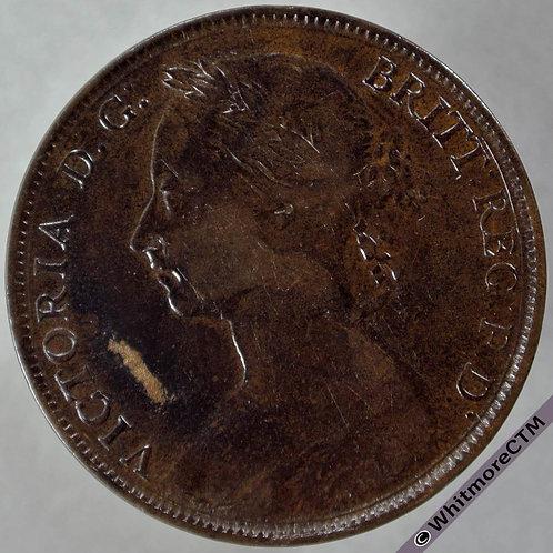 1890 British Bronze Penny