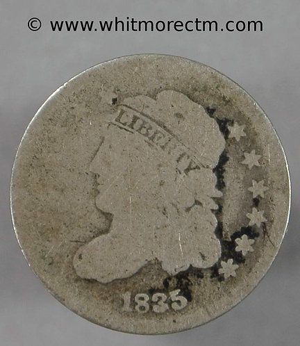 1835 USA Five Cents coin - Large 5C Small date