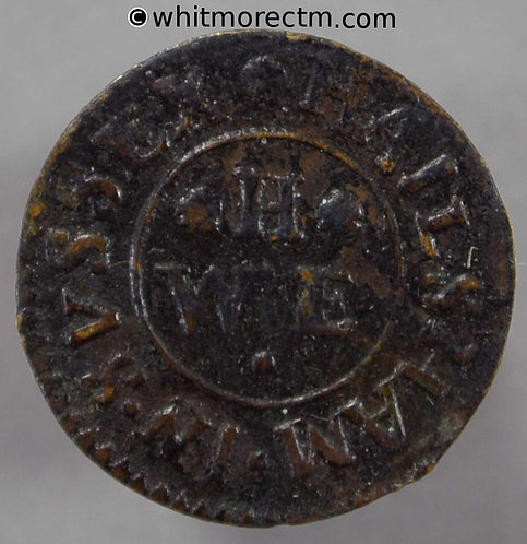 17th Century Token Hailsham 92 William Hartnup. Grocers Arms / H / W E