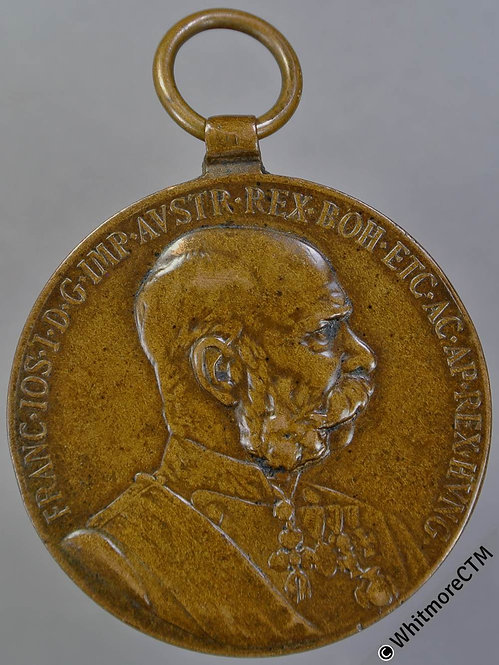 1898 Austria Franz Ioseph Jubilee Medal 34mm Bronze with suspender & ring