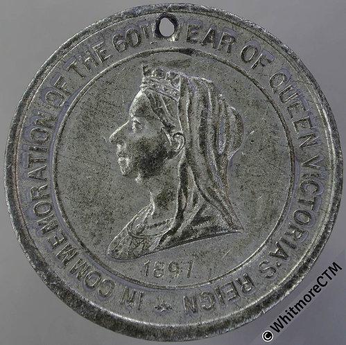 1897 Victoria Diamond Jubilee Medal 38mm WE3342 WM. Pierced