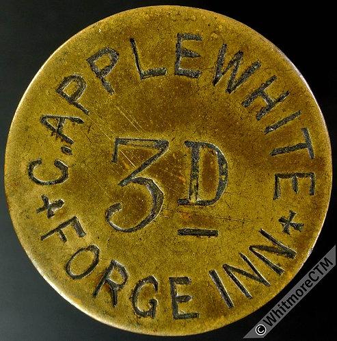 Sheffield Inn / Pub Token Forge Inn C.Applewhite - 3D All incuse - Uniface
