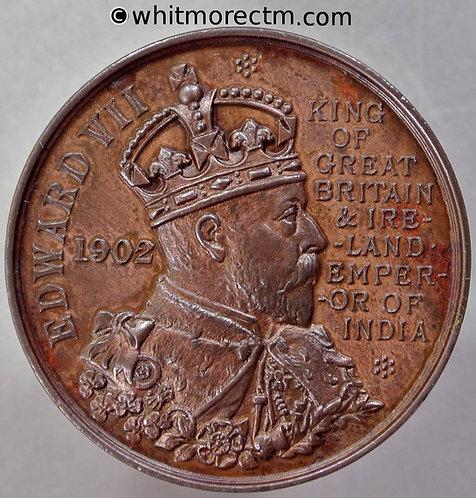 Cambridge 1902 Edward VII Coronation Medal 38mm  WE4125E Bronze