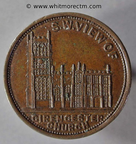 Unofficial Farthing Cirencester 1400 Hawkins - Four Shilling Tea - Rare