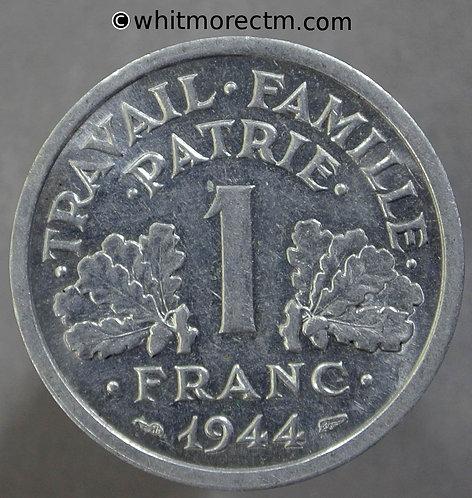 1944 France 1 Franc coin YV95