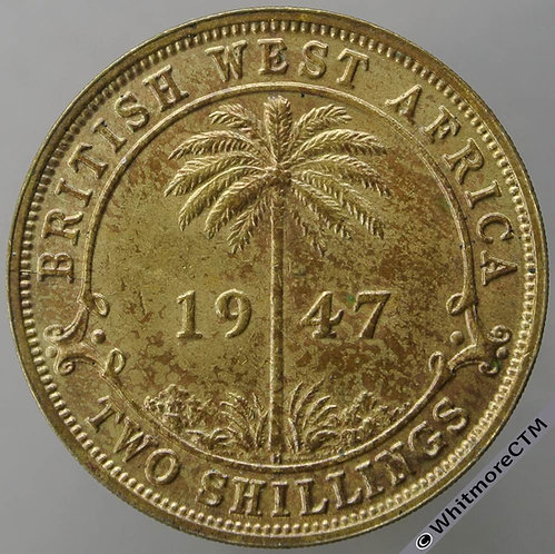 1947H British West Africa Two Shilling 2/- Y28