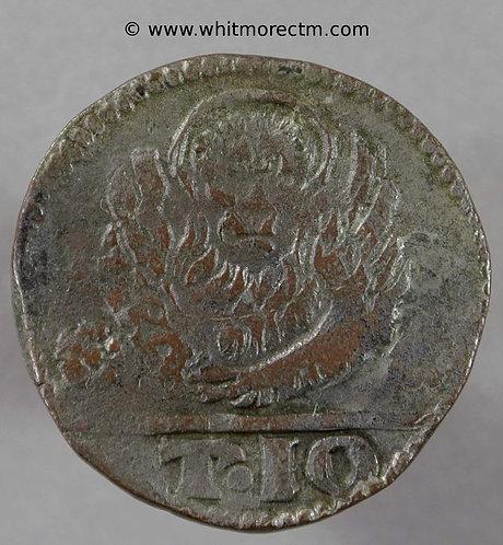 Italian States VENICE CRETE Candia 2½ Soldini. Venetian Lion T10 Tornesi coin