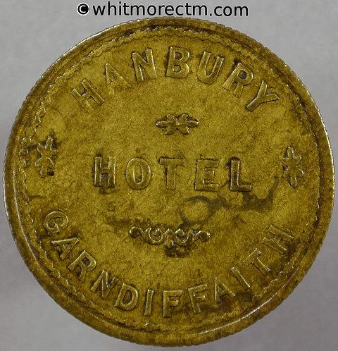 Garndiffaith Abersychan Inn / Pub Token C1053 3d Hanbury Hotel. By Ardil Leeds