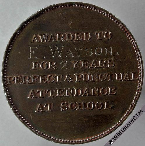 Scarborough School Board Attendance Medal 45mm Bronze D1856