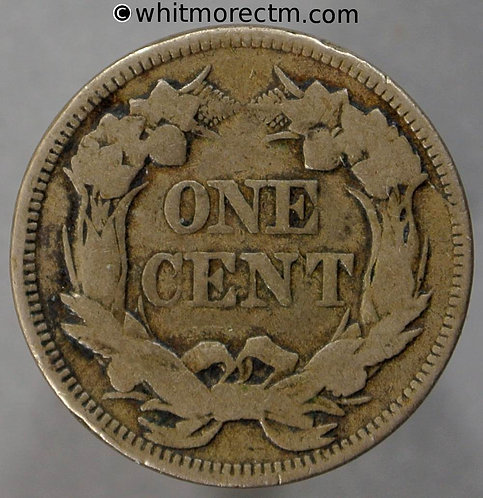 1858 USA Flying Eagle 1 Cent coin - Large Letters