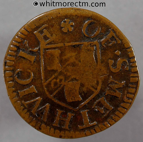 17th Century Token Smethwick 50 ½d Thomas Parkes Half Peny Not Norweb 4210 obv
