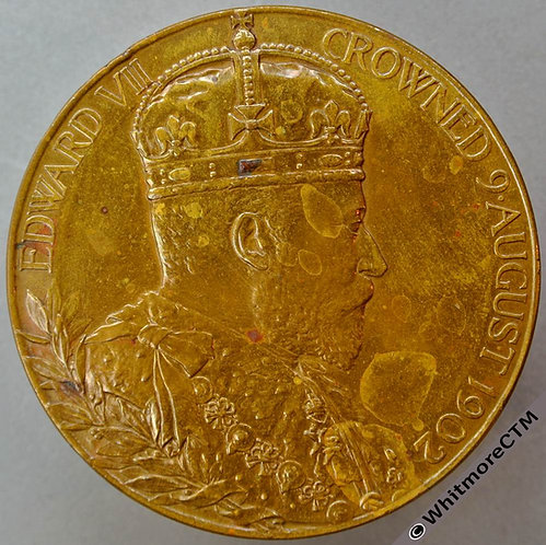 1902 Edward VII Coronation Medal 55mm B3737 - Official issue. Bronze
