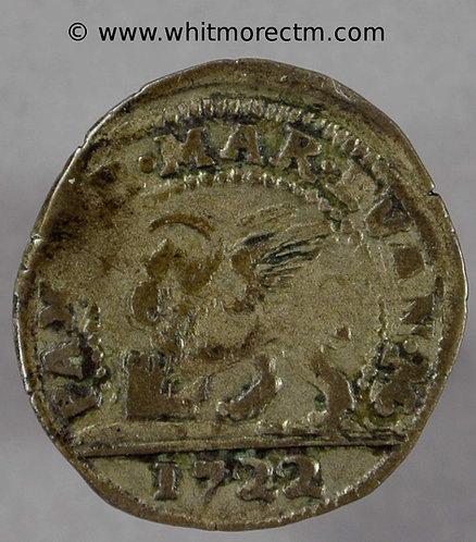 1722 Italy Venice 5 Soldi Silver coin