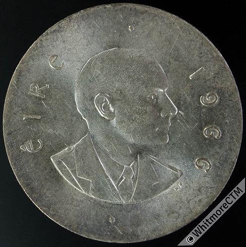Ireland 1966 Ten Shilling - Silver