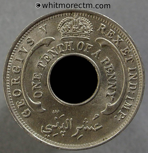 1928 British West Africa One Tenth of a Penny coin Y7
