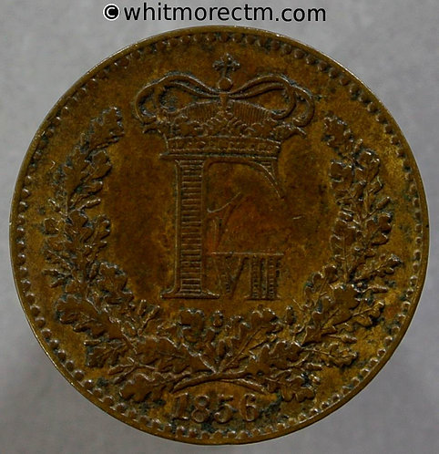 1860 Denmark 1 Skilling Rigsmont coin