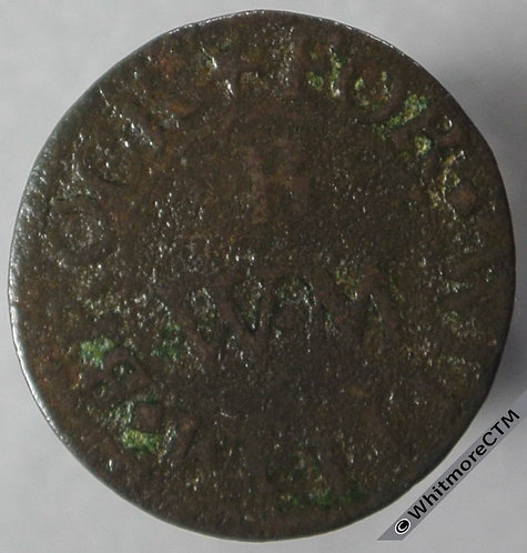 17th Century Token Dorchester (Oxon) 84 ¼d William Brock and Robert Couldry