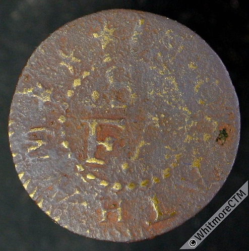 17th Century Token Chatham 106 Francis Sanders. Merchant Taylors Arms / S / F A