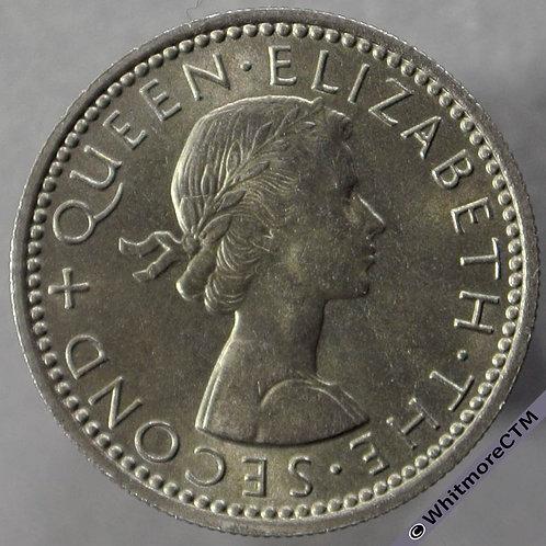 1964 New Zealand 6 Pence - Elizabeth II