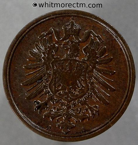 1875 Germany 2 Pfennig coin 1875B  Y2