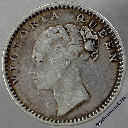 1840 India Quarter Rupee S&W 2.41 obv